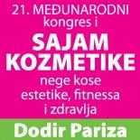 21. međunarodni sajam i kongres kozmetike, nege kose, estetike, fitnessa i zdravlja Dodir Pariza