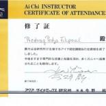 Ai Chi sertifikat instruktora