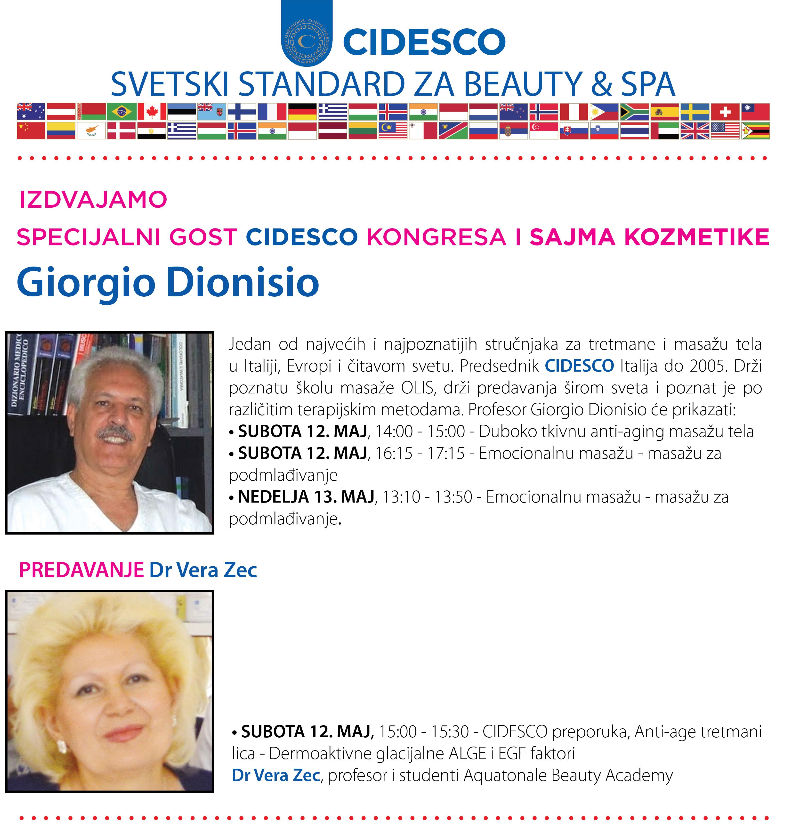 CIDESCO gost Giorgio Dionisio