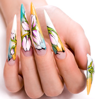 Crystal nails Nail art