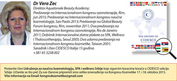 Dr Vera Zec - CIDESCO Italia - 26. Sajam kozmetike - Beograd