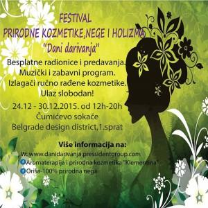 """Festival prirodne kozmetike, nege i holizma """"Dani darivanja"""""""