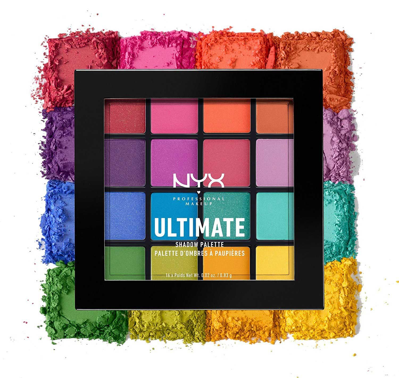 NYX professional makeup Ultimate Brights paleta senki za oči