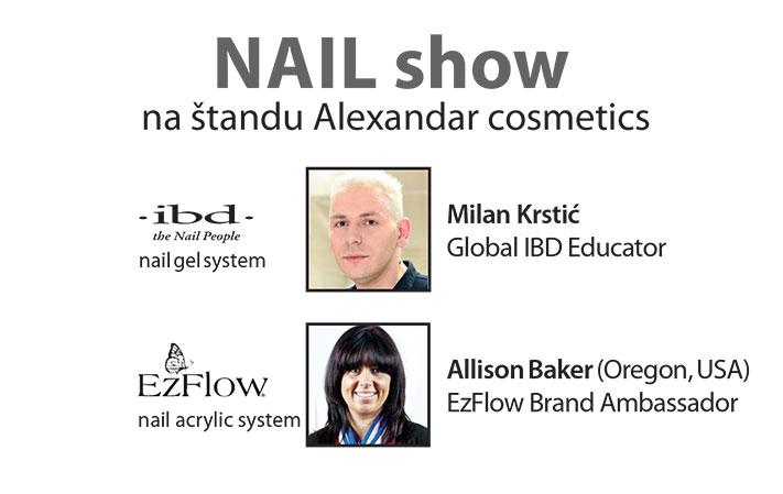 Nail show na štandu Alexandar cosmetics