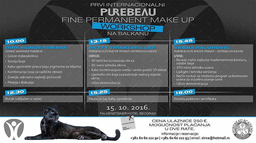 Prvi internacionalni PUREBEAU workshop na Balkanu - program