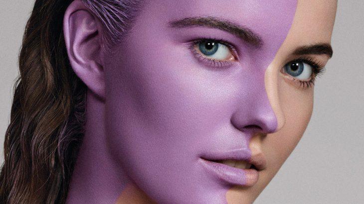 Two colors women face