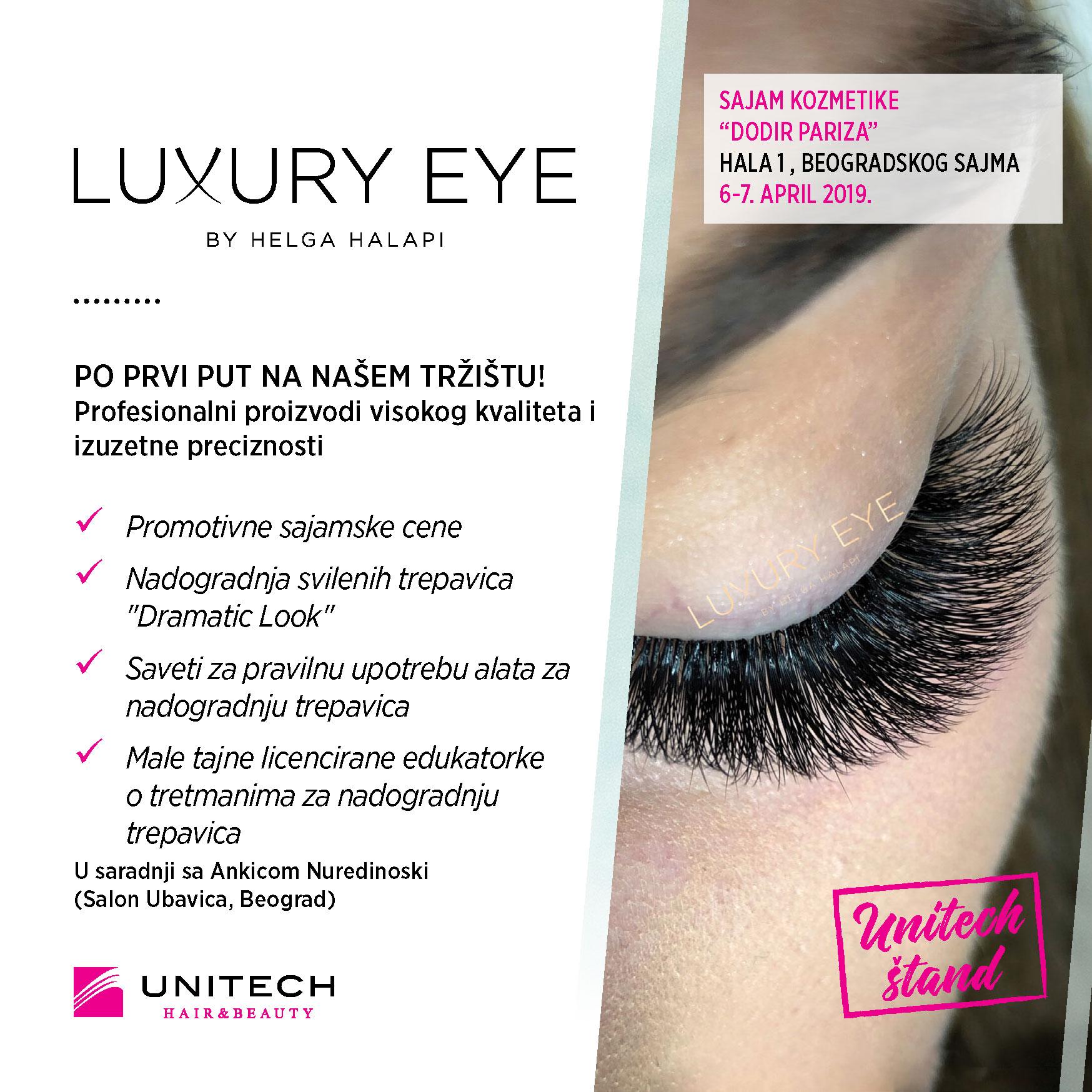 Unitech Luxury eye - 33. sajam kozmetike