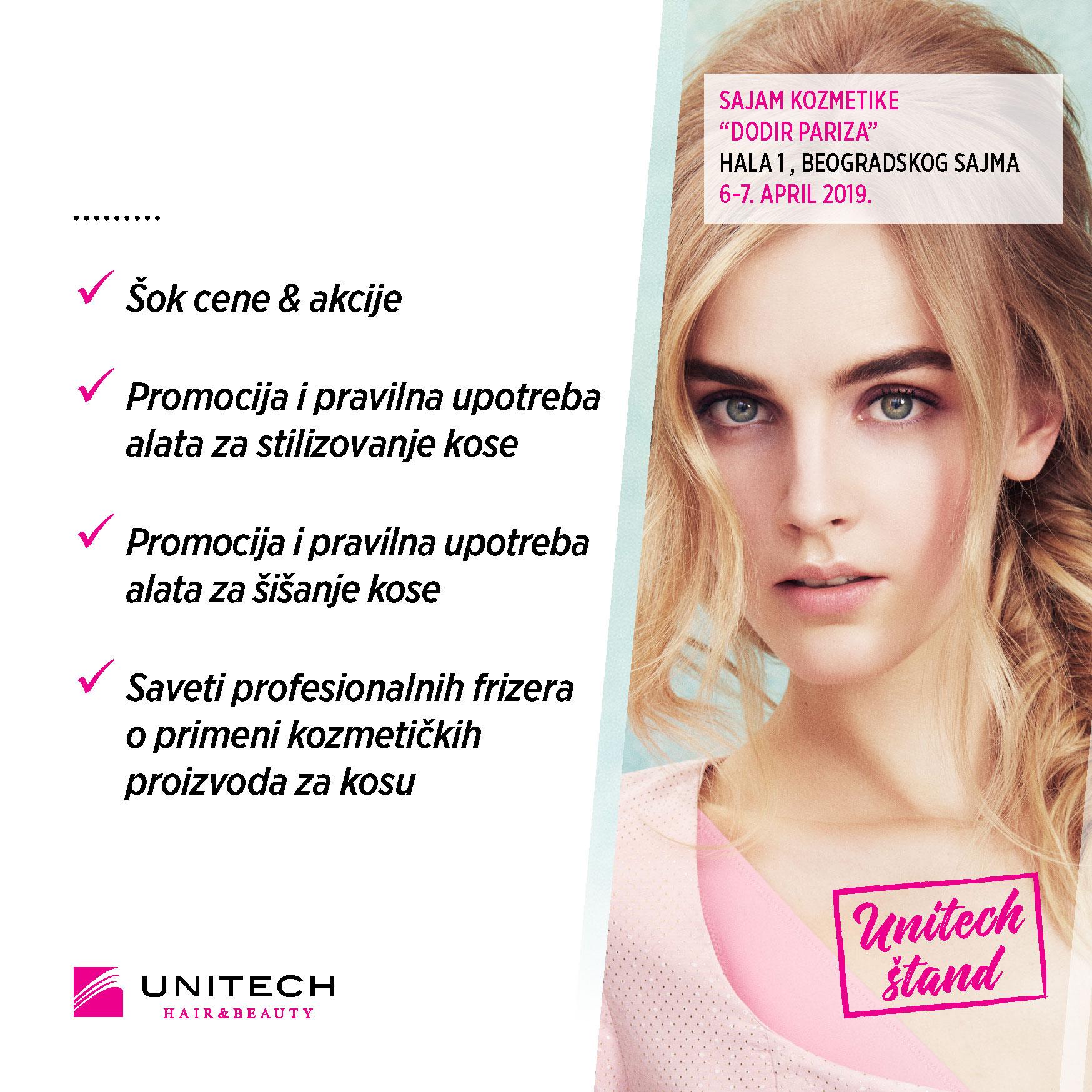 Unitech Šok cene & akcije - 33. sajam kozmetike