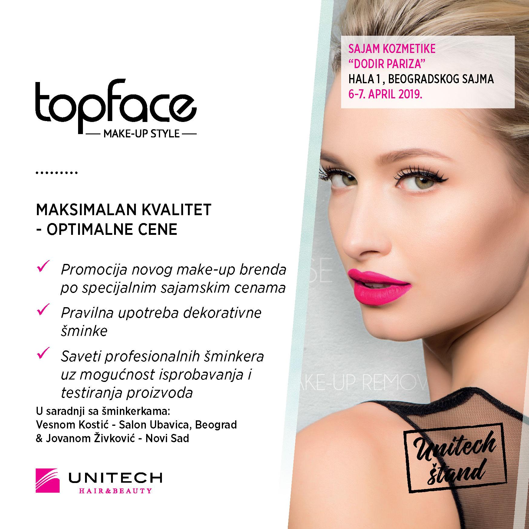 Unitech topface - 33. sajam kozmetike