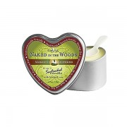 3 in 1 Suntouched Candle - Ulje za masazu u vidu svece - Heart Naked In The Wood