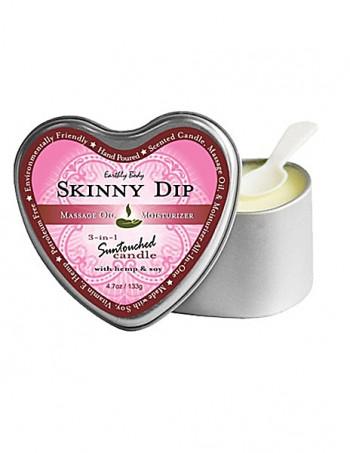 3 in 1 Suntouched Candle - Ulje za masazu u vidu svece - Heart Skinny Dip