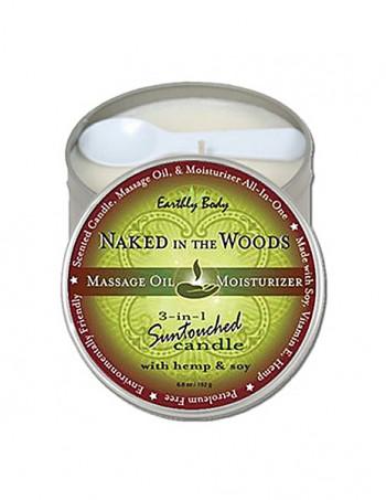 3 in 1 Suntouched Candle - Ulje za masazu u vidu svece - Naked In The Wood
