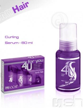 4U Serum za nadograđenu kosu Curly