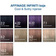 Affinage Infiniti boja Coll, Sultry nijanse