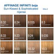 Affinage Infiniti boja Sun Kissed, Sophisticated nijanse 2