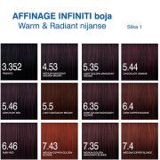 Affinage Infiniti boja Warm, Radiant nijanse 1