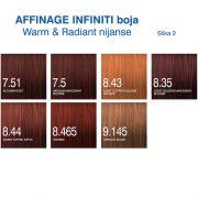 Affinage Infiniti boja Warm, Radiant nijanse 2
