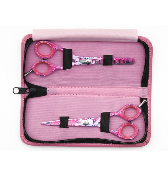 Agera Fancy Pink Set - Makaze za klizno sisanje