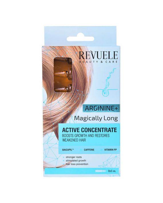 Ampule za intenzivan rast i jacanje kose REVUELE Arginine 8x5ml