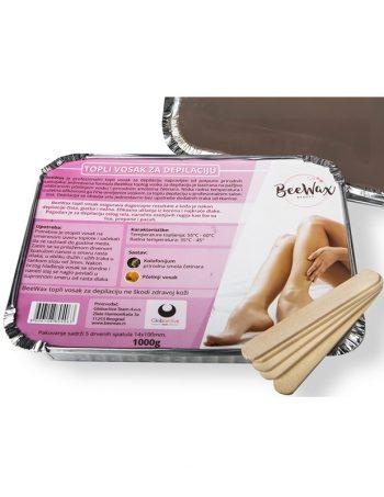 BeeWax Topli vosak za depilaciju 1000g