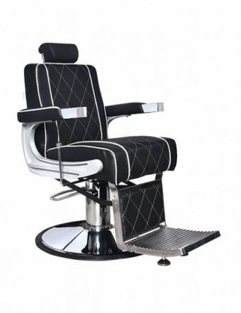Berberska stolica ARK 5228A - A15 crna sa belim stepom