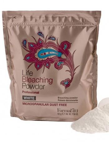 FarmaVita Life bleaching powder white. Blans - beli