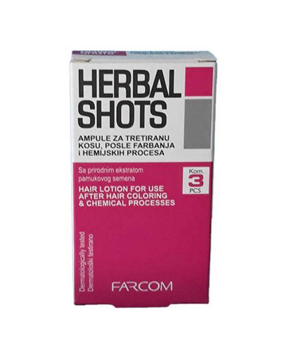 Farcom Herbal Shots ampule za farbanu i ostecenu kosu