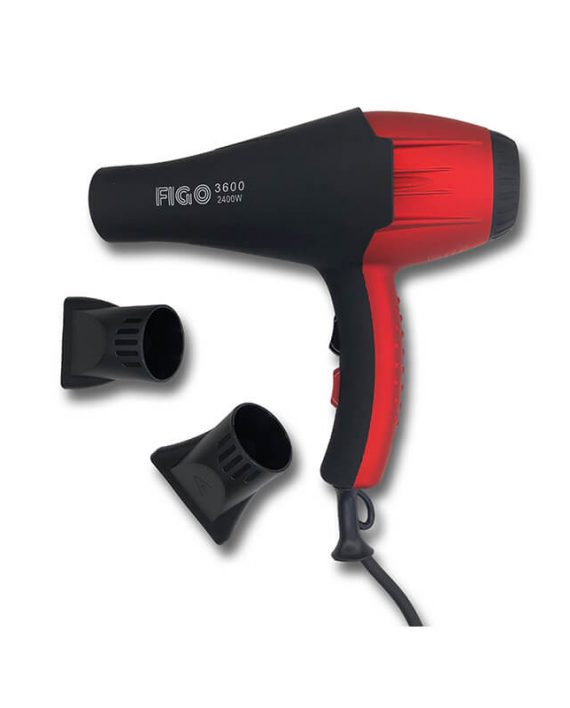 Fen FIGO crveni – profesionalni fen za kosu jacine 2400W (2)
