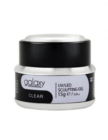 Gradivni gel za nadogradnju noktiju GALAXY LEDUV Clear 15g