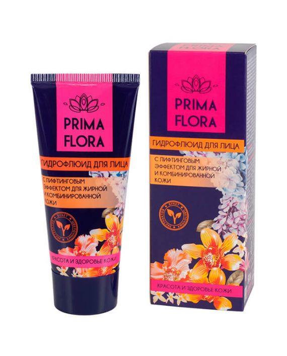 Hidrofluid za lice sa efektom liftinga za masnu i kombinovanu kozu PRIMA FLORA