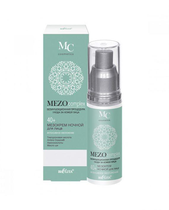 Nocna Mezo krema za lice za intenzivno podmladjivanje 40+