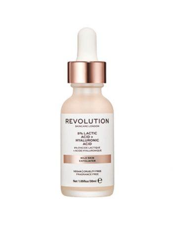 Nocni serum za blagi piling lica REVOLUTION SKINCARE 5% Lactic Acid & Hyaluronic Acid 30ml