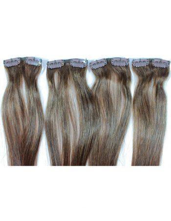Prirodna kosa sa klipsama – ravna 7x50cm
