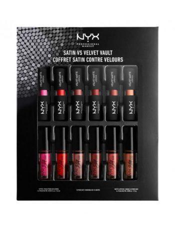 Ruz u setu NYX Professional Makeup Satin vs Velvet MIDVAULT02 6x1.6ml 6x2.5