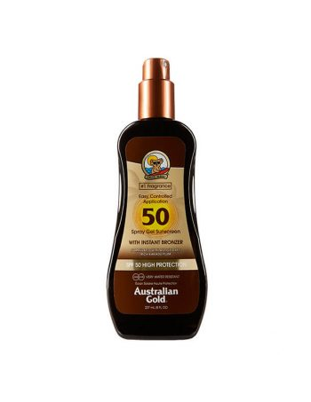 SPF 50 Spray gel sa bronzerom