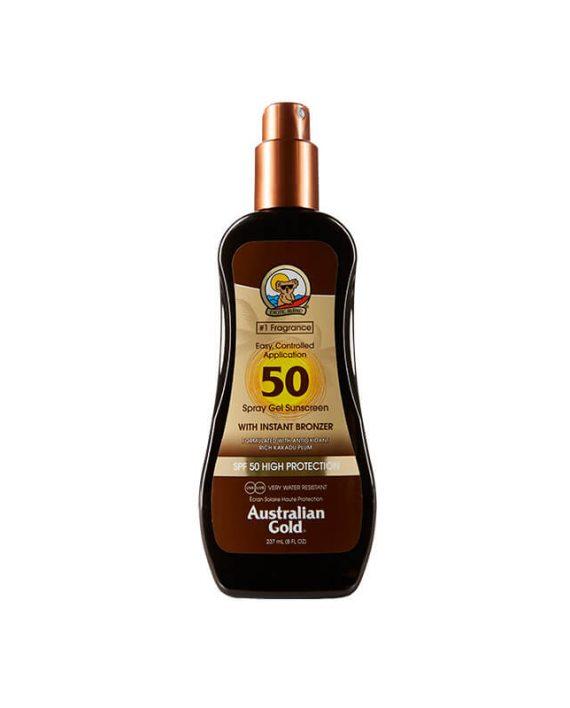 SPF 50 Spray gel sa bronzerom
