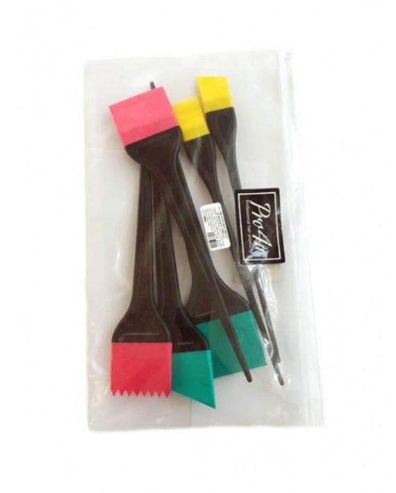 Set silikonskih cetkica za bojenje kose