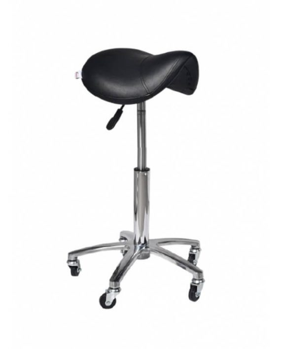 Stolica za frizera TAGUS 7232 aluminijum crna