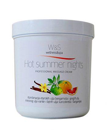 W&S profesionalne kreme za masazu Hot summer nights