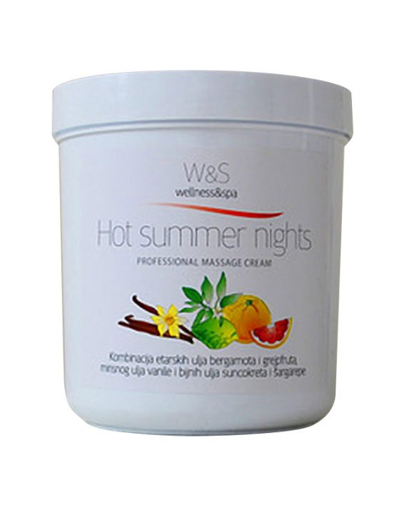 W&S profesionalne kreme za masazu Hot summer nights