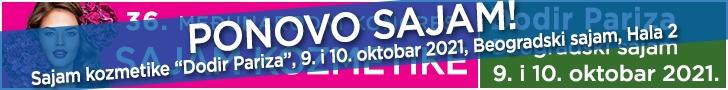 Sajam kozmetike i nege kose Dodir Pariza 12. i 13. maj 2018. Beogradski sajam, Hala 2.