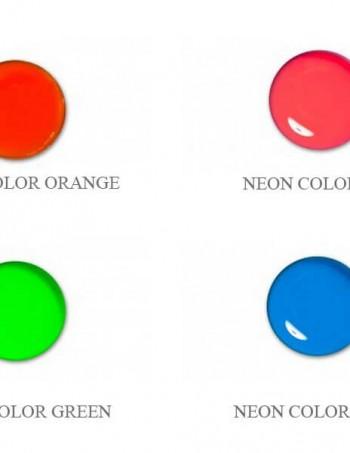 Neon color UV gel