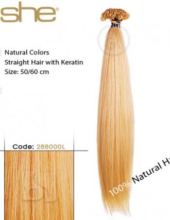 Pramenovi sa keratinom od prirodne kose - ravna