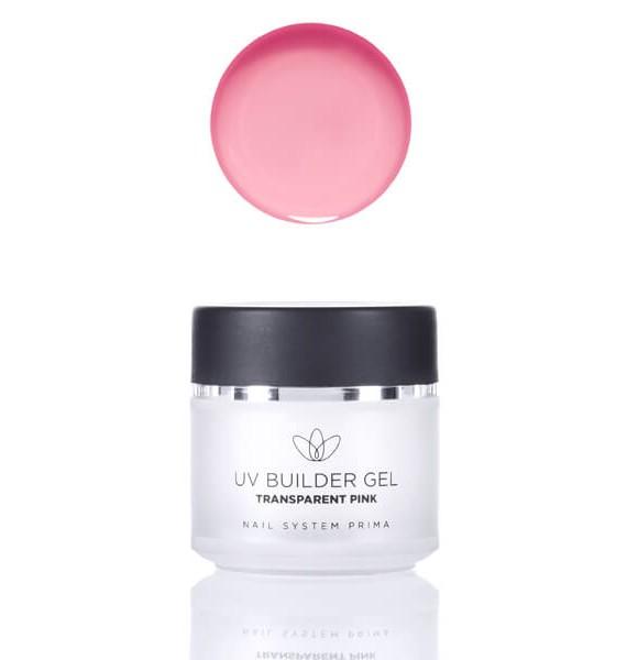 UV Builder Gel - transparent pink (za izlivanje)